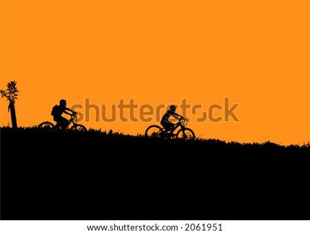bicycle kids - stock vector
