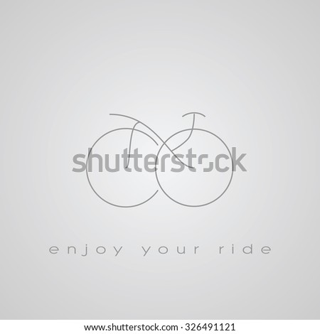Bicycle line icon in abstract shape. Sport symbol for promotion or advertisement. Eps10 vector illustration. - stock vector
