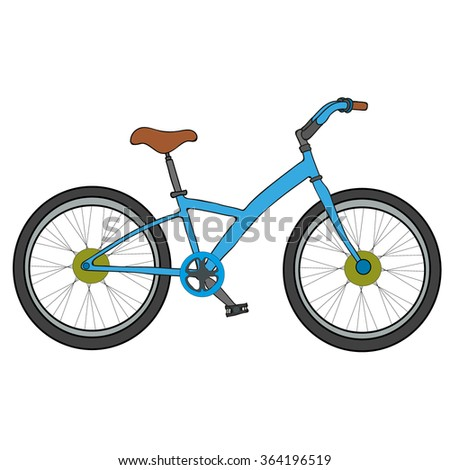 Bicycle on a white background. Bicycle vector illustration.
