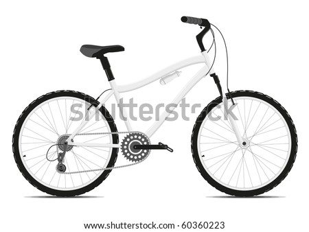 Bicycle on a white background. Vector illustration. EPS8 - stock vector