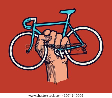 stock-vector-bicycle-protest-sign-hand-h