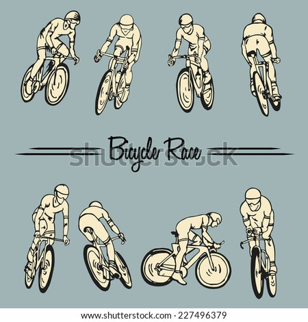 Bicycle Race - stock vector
