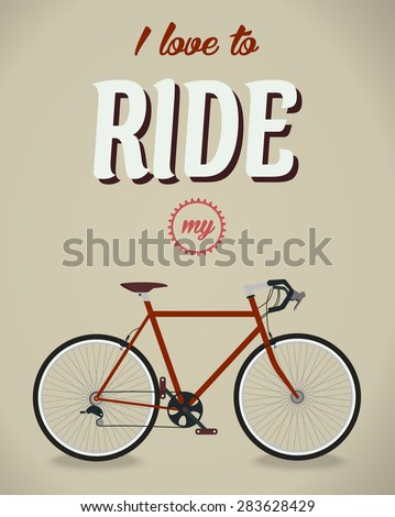 Bicycle sign. Beatles album. Famous song. Flat design style - stock vector