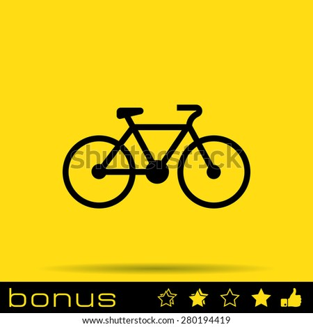 bicycle sign icon - stock vector