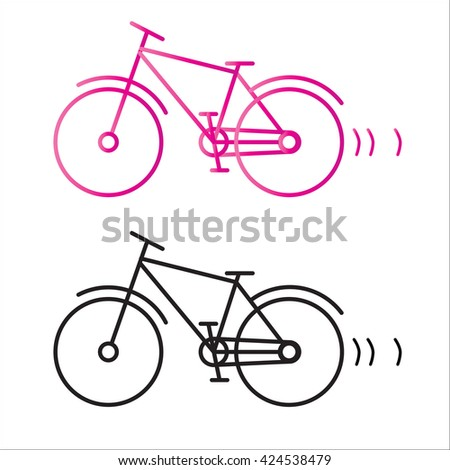 bicycle silhouette isolated - stock vector