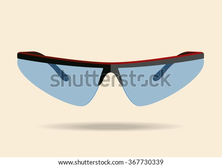 Bicycle sport sunglasses. Vector illustration - stock vector