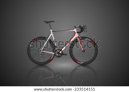 bicycle,vector - stock vector