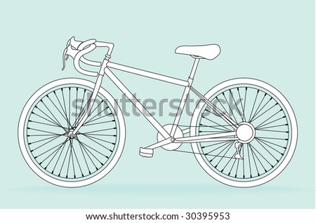 Bicycle, vector illustration - stock vector