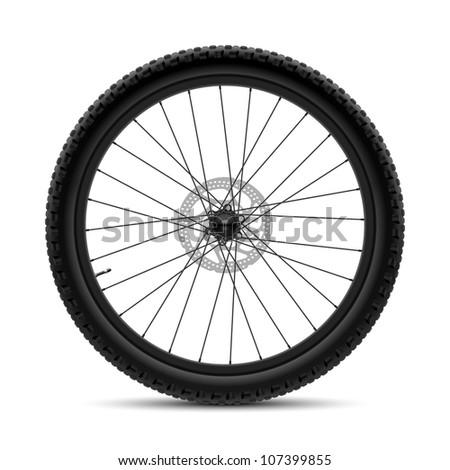 Bicycle wheel. Vector. - stock vector