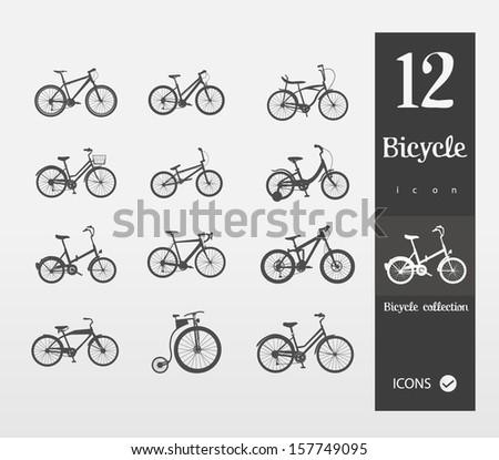 bicycles (Set of 1 2 bikes ) - stock vector