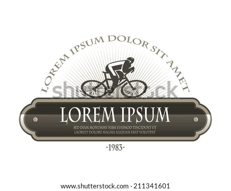 Bicyclist. Vector format - stock vector