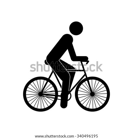 bicyclist vector icon