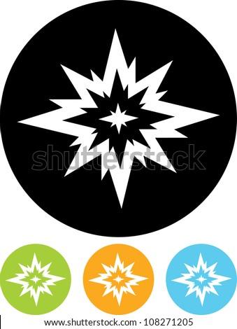 Big Bang. Flash - Vector icon isolated - stock vector