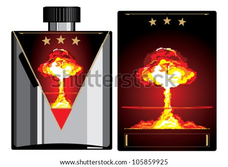 Big bang.Sticker - stock vector