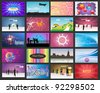 Big Banner Set Vector - stock vector