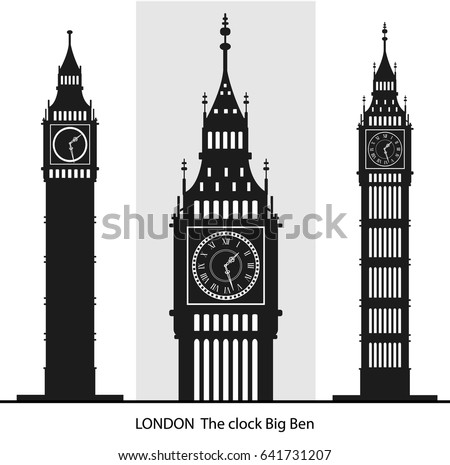 big ben vector stock vector 641731207 shutterstock rh shutterstock com big ben vector free download big ben vector eps