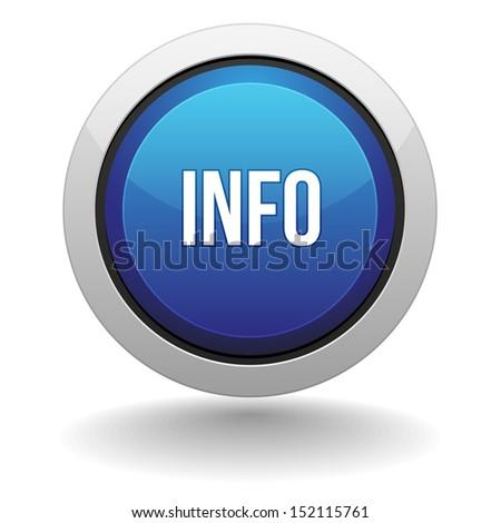 Big blue info button - stock vector