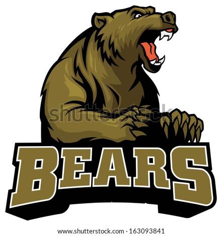 big brown bear - stock vector