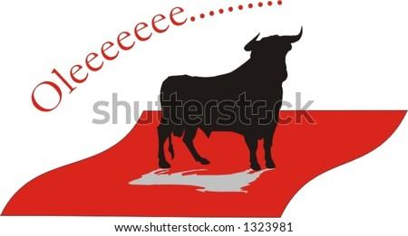 big bull preparing for the fight - vector illustration - stock vector