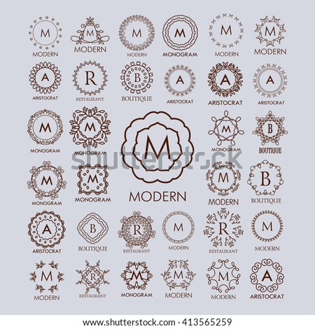 monogram stock photos royalty free images amp vectors