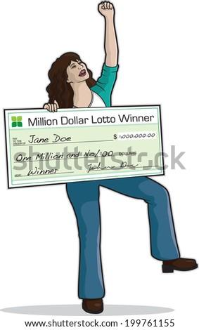 Big Check Winner - stock vector