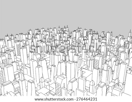 big city vector - stock vector