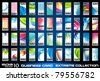 Big collection of corporate business cards background to use for distribuition flyers or poster. Big variety,shapes and colours. - stock vector