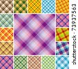 Big collection of seamless plaid patterns. Volume 10 - stock vector