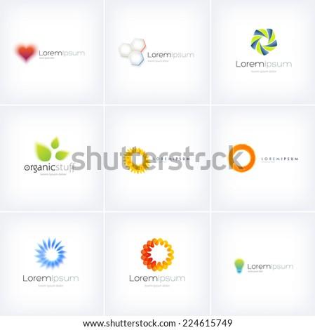 Big collection of vector logo design templates - stock vector