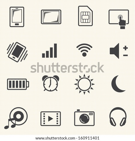 Big Data icon set, Sign of mobile phone