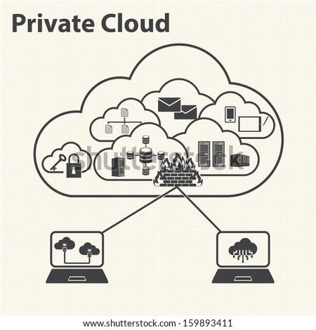 Big Data icons set, Cloud computing - stock vector