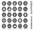 big data icons set for business and enterprise - stock photo