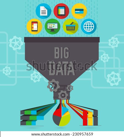 Big data infographics - stock vector