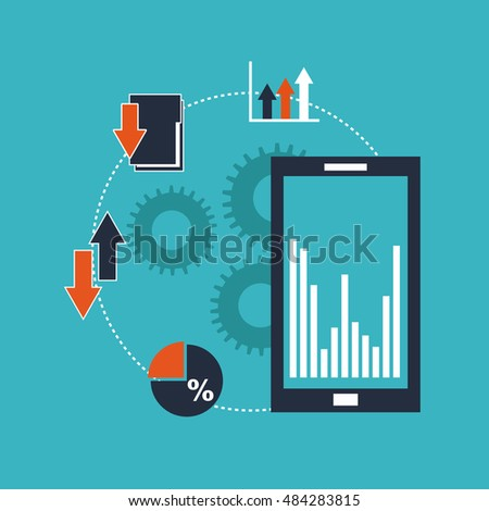 big data management icons vector illustration design