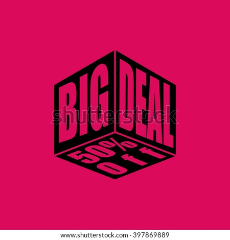Big Deal Icon. Eps-10. - stock vector
