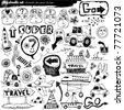 big doodle set - stock photo