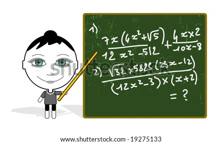 big eyes girl & maths