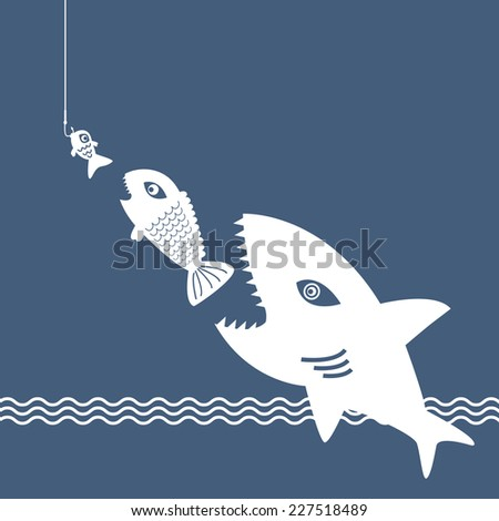 Big fish little fish stock images royalty free images for Big fish little fish
