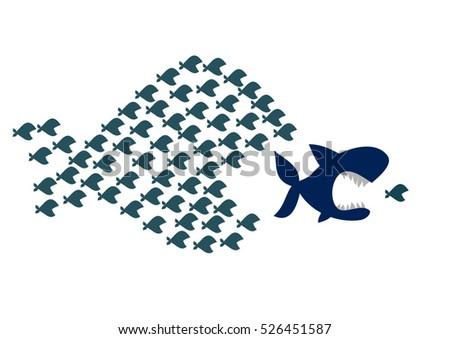 Big Fish Eat Small Fish Stock Vector 526451587 Shutterstock
