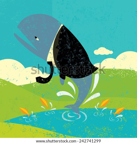 Small pond stock images royalty free images vectors for Big fish pond
