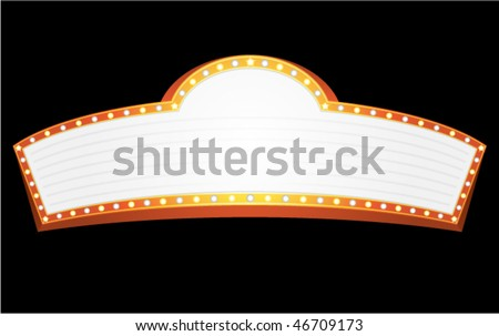 Big gold banner for cinema, theater or circus - stock vector