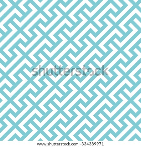 Big Greek keys diagonal pattern background. Vintage retro vector design element. - stock vector