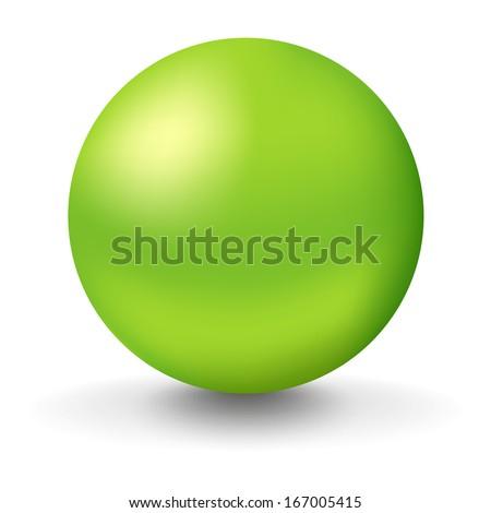 big green ball - stock vector