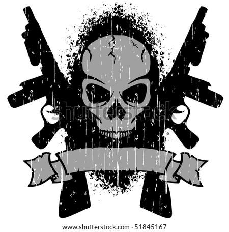 big guns - stock vector
