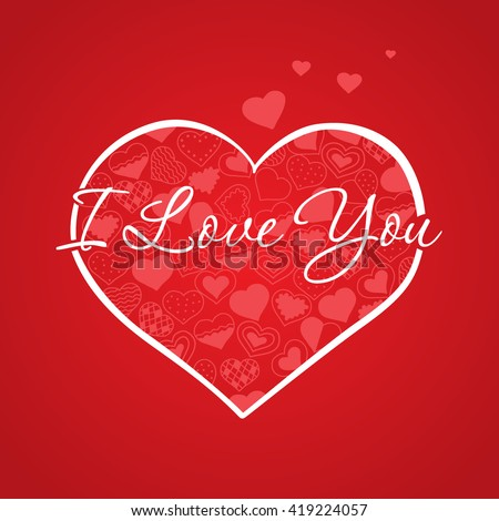Big Heart Frame Love You Card Stock Vector HD (Royalty Free ...