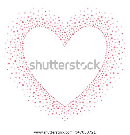 Big Heart Shape Frame Empty Space Stock Vector 347053721 - Shutterstock