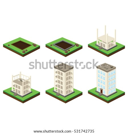 Stock images royalty free images vectors shutterstock for Process for building a house