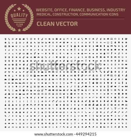 Big icon set,Business icon,web icon,medical icon,construction icon,communication icon,vector - stock vector