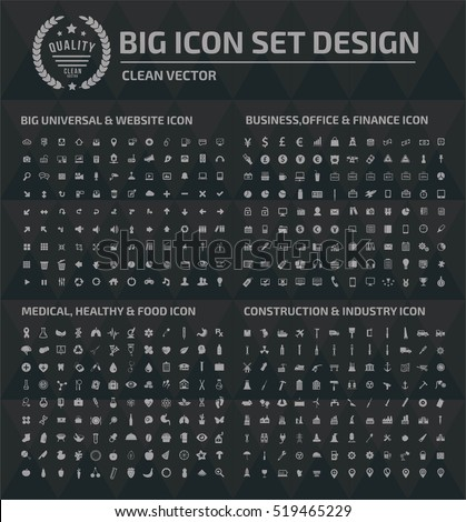 Big icon set design,clean vector