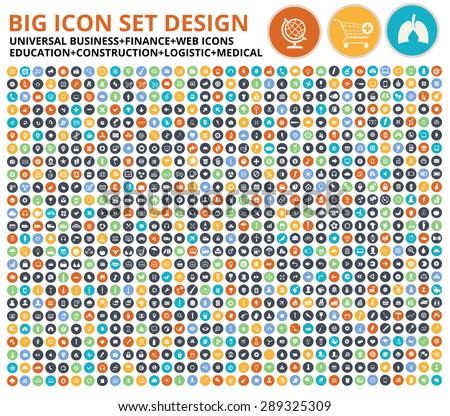 Big icon set,Website symbol,Construction,Industry,Ecology,Medical,healthy & Food icon set,clean vector - stock vector